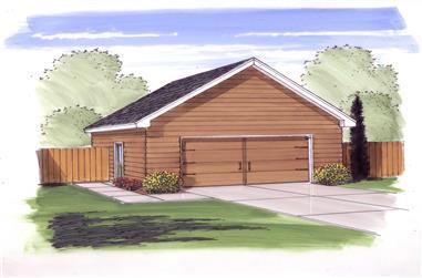0-Bedroom, 576 Sq Ft Garage Home Plan - 100-1093 - Main Exterior
