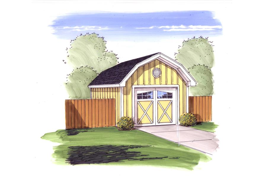 1-Car, 308 Sq Ft Garage Home Plan - 100-1095 - Main Exterior