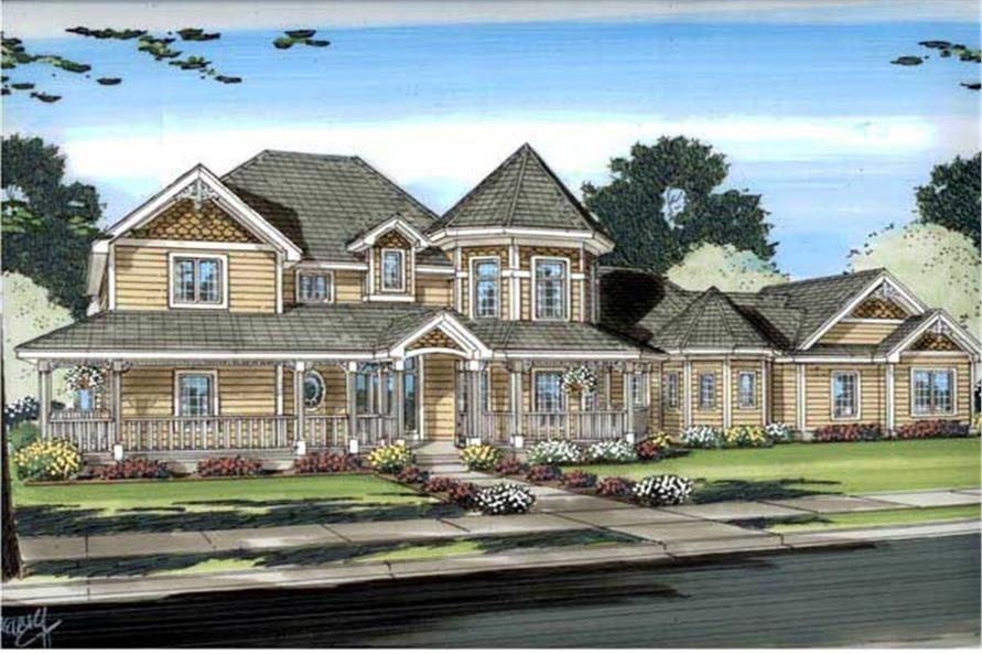 4-Bedroom, 3524 Sq Ft Country House Plan - 100-1096 - Front Exterior