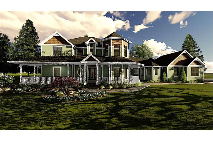 4-Bedroom, 3524 Sq Ft Victorian House - Plan #100-1096 - Front Exterior