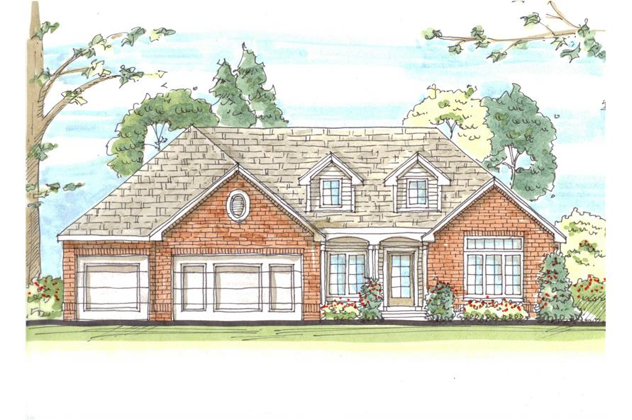 This is the colored rendering for these Ranch Homeplans.