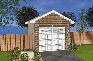 0-Bedroom, 20 Sq Ft Garage Home Plan - 100-1108 - Main Exterior