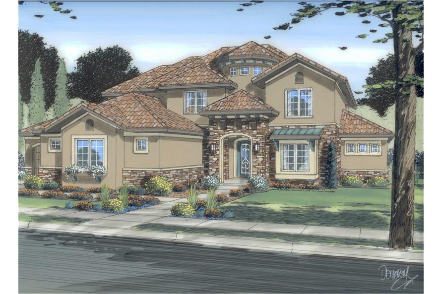 4-Bedroom, 3446 Sq Ft Luxury Home Plan - 100-1109 - Main Exterior