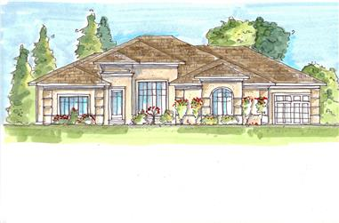 4-Bedroom, 4796 Sq Ft French House Plan - 100-1110 - Front Exterior