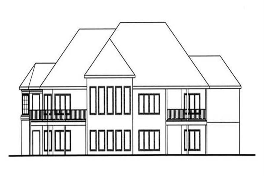Home Plan Rear Elevation of this 2-Bedroom,2494 Sq Ft Plan -100-1111
