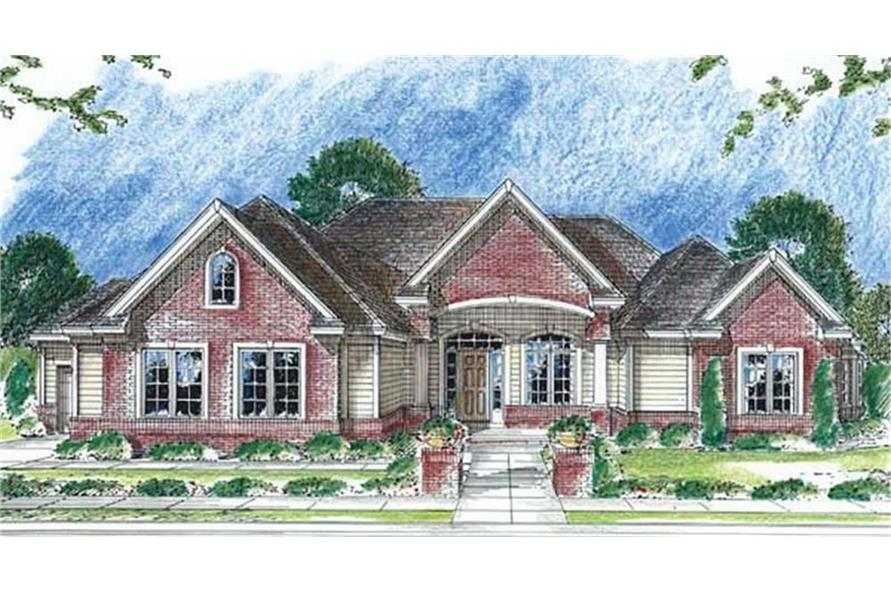 100-1111: Home Plan Rendering
