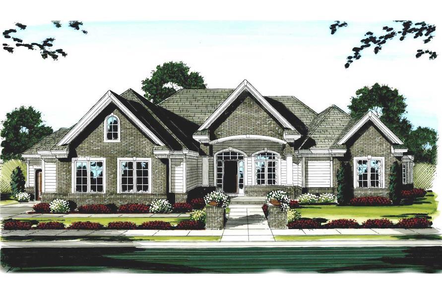 100-1111: Home Plan Rendering