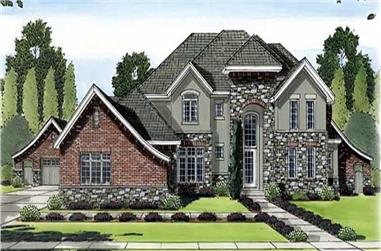 5-Bedroom, 5671 Sq Ft European House Plan - 100-1113 - Front Exterior