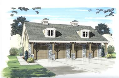 0-Bedroom, 672 Sq Ft Garage House Plan - 100-1114 - Front Exterior