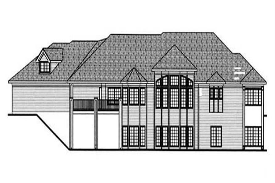Home Plan Rear Elevation of this 2-Bedroom,3242 Sq Ft Plan -100-1120