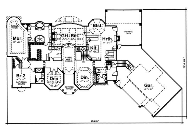 European ranch home with 2 bedrooms 3242 sq ft floor for 1120 westchester place floor plan