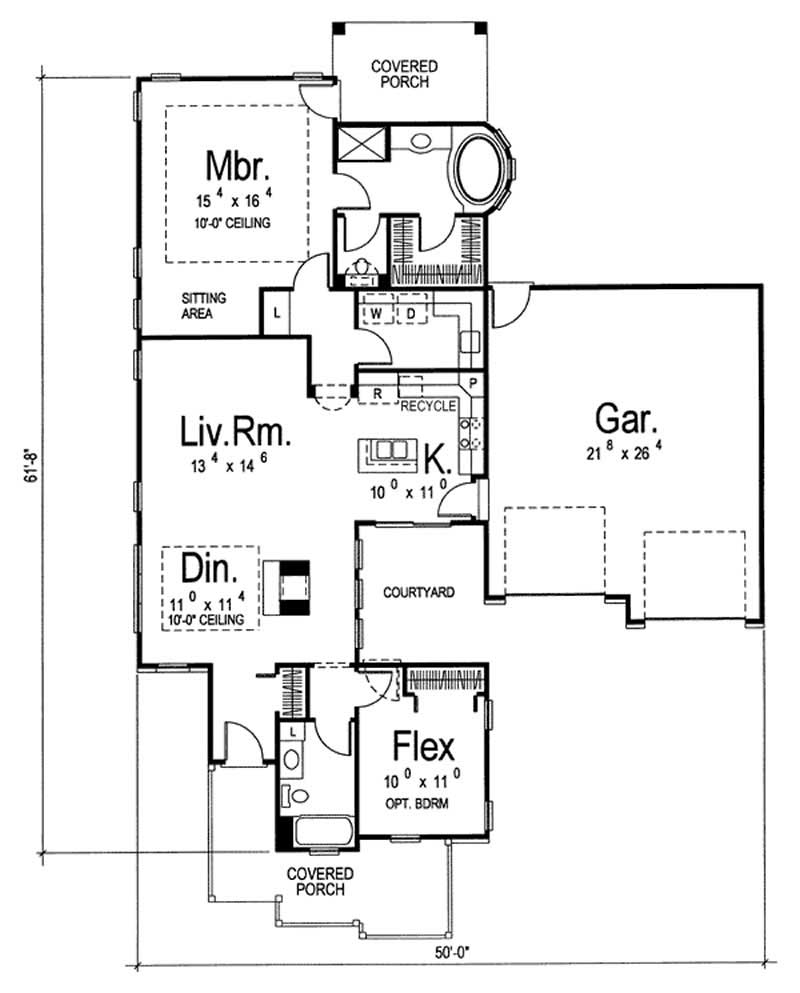 Craftsman Small Home With 2 Bedrooms 1438 Sq Ft House