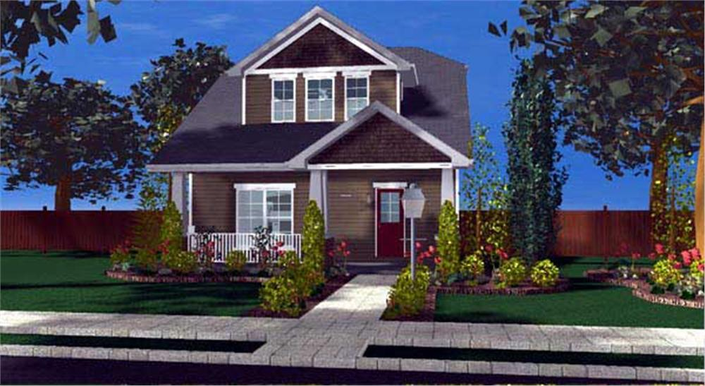 This is yet another computer rendering of yet another set of Craftsman Homeplans.