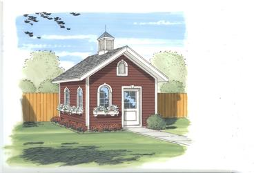 0-Bedroom, 154 Sq Ft Specialty Home Plan - 100-1124 - Main Exterior