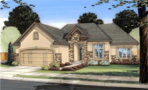 This is an artist's rendering of these House Plans.