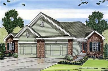 2-Bedroom, 1189 Sq Ft Small House Plans - 100-1126 - Main Exterior
