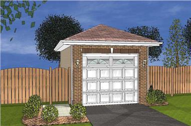 0-Bedroom, 20 Sq Ft Garage Home Plan - 100-1128 - Main Exterior
