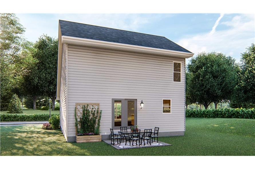 Rear View of this 2-Bedroom,1441 Sq Ft Plan -1441