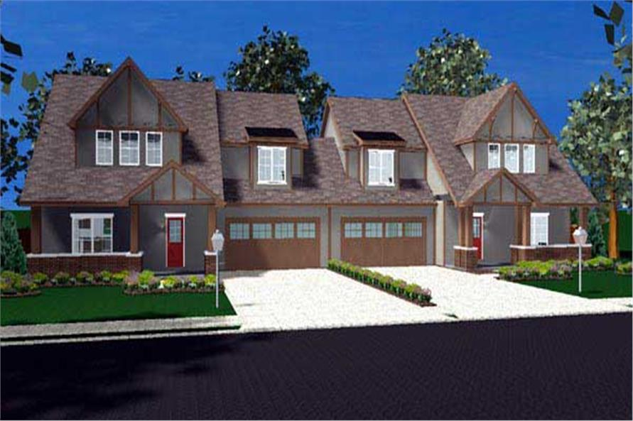 This is a computerized elevation of these Craftsman Houseplans.