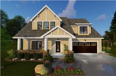 4-Bedroom, 1827 Sq Ft Country House Plan - 100-1136 - Front Exterior