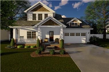 3-Bedroom, 1618 Sq Ft Bungalow House Plan - 100-1137 - Front Exterior