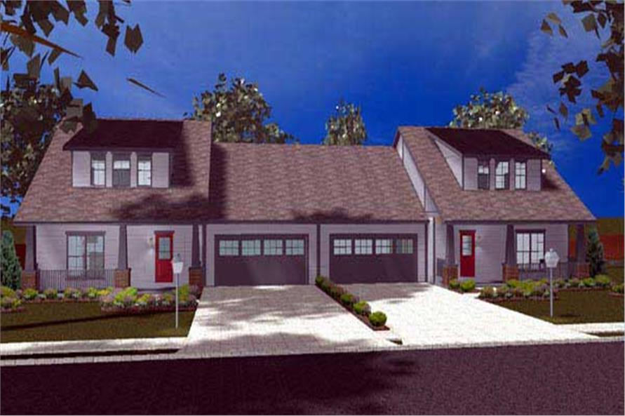 3-Bedroom, 1618 Sq Ft Contemporary House Plan - 100-1138 - Front Exterior