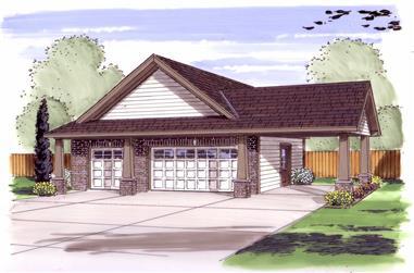 0-Bedroom, 816 Sq Ft Garage House Plan - 100-1141 - Front Exterior