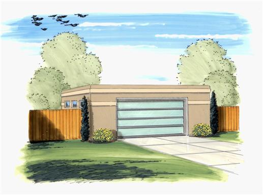 This is an artist's rendering of these Garage Plans.