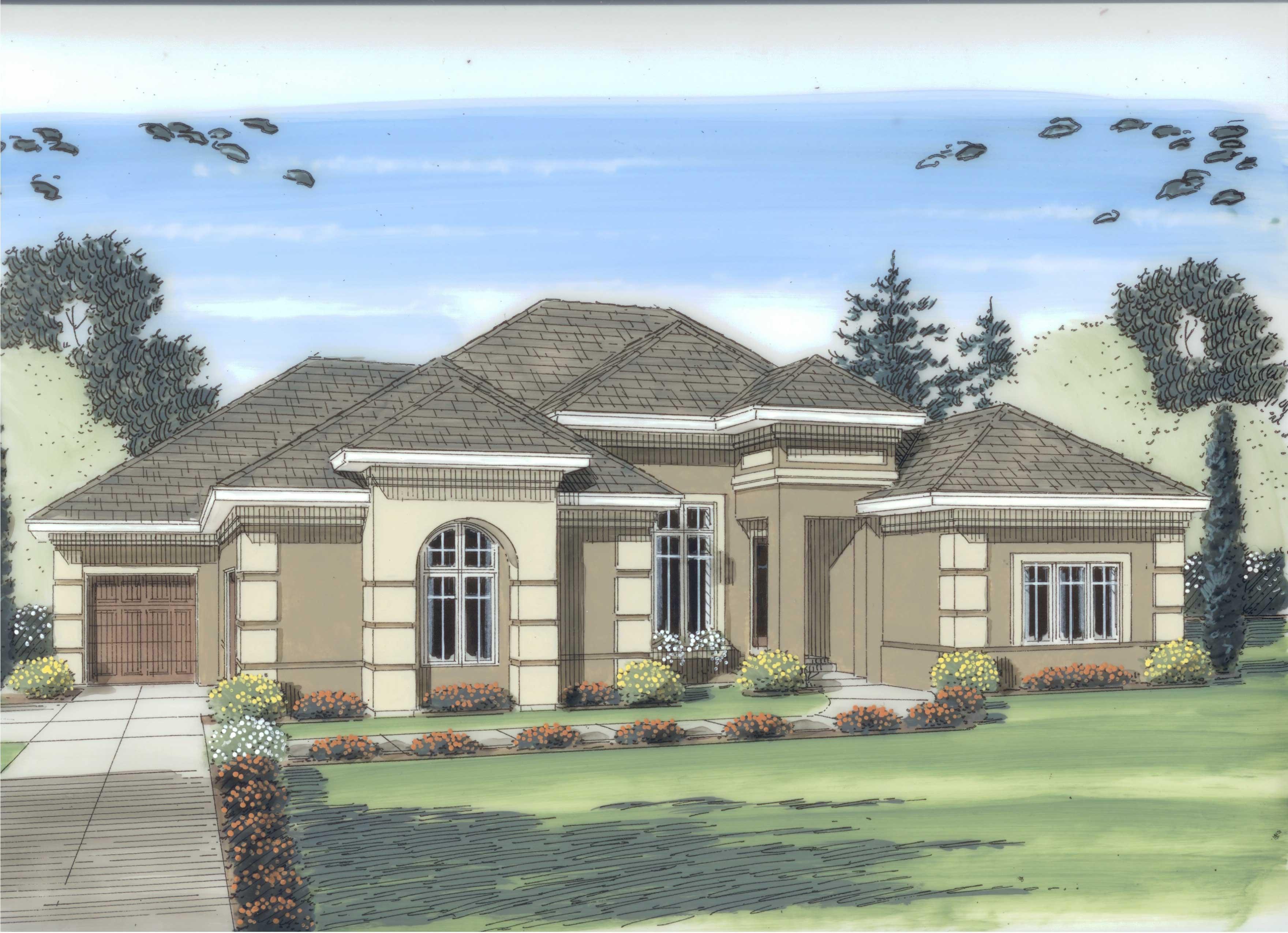 Mediterranean Prairie Home With 4 Bedrooms 2490 Sq Ft