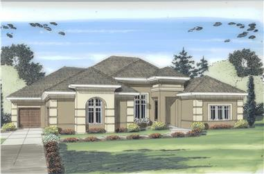 4-Bedroom, 2490 Sq Ft Mediterranean Home Plan - 100-1143 - Main Exterior