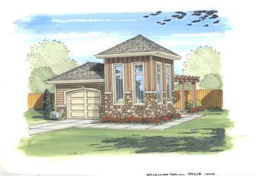 0-Bedroom, 408 Sq Ft Garage Home Plan - 100-1144 - Main Exterior