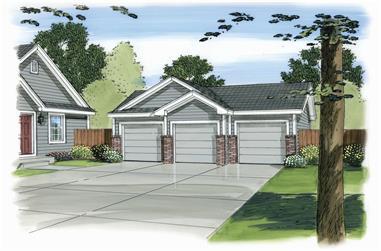 0-Bedroom, 924 Sq Ft Garage Home Plan - 100-1146 - Main Exterior