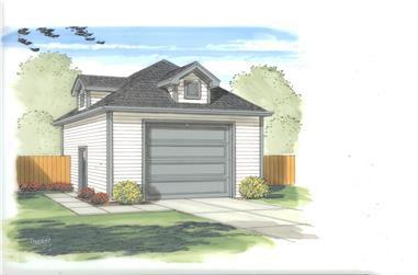 1-Bay, 668 Sq Ft Garage Plan - 100-1148 - Main Exterior