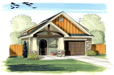 0-Bedroom, 626 Sq Ft Garage House Plan - 100-1151 - Front Exterior