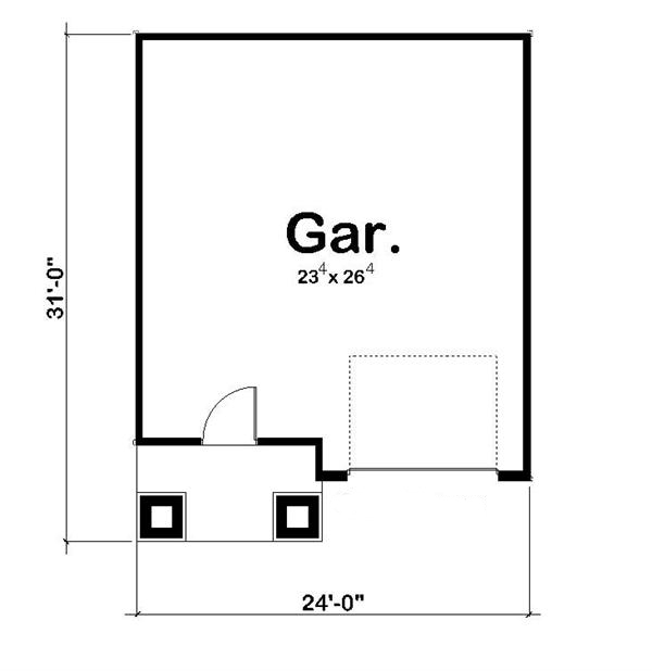 100-1151: Floor Plan Garage