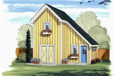 This is the front elevation of Garden Shed Blueprints.