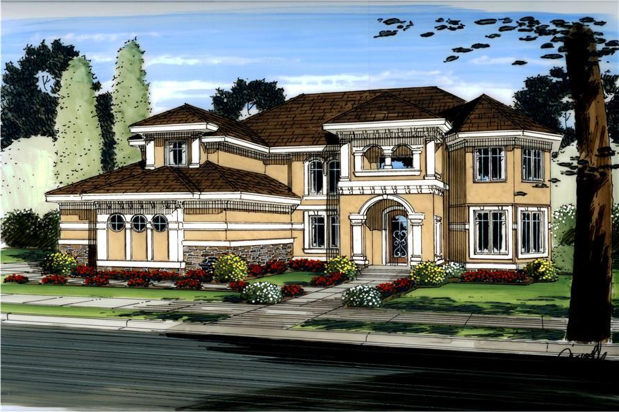 Home Plan Rendering of this 4-Bedroom,3086 Sq Ft Plan -3086