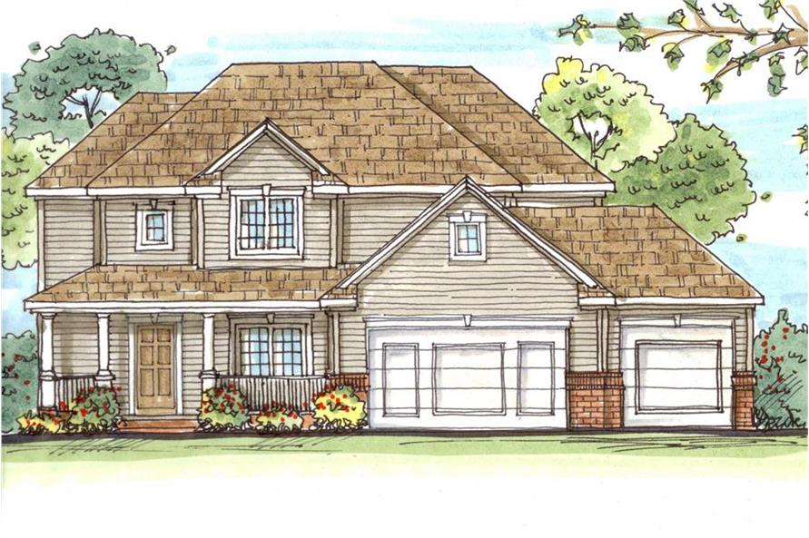 100-1159: Home Plan Front Elevation