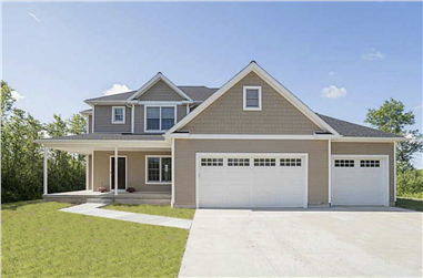 4-Bedroom, 2580 Sq Ft Country Home Plan - 100-1159 - Main Exterior