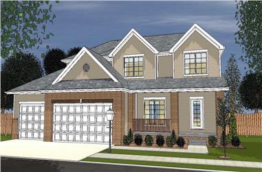 3-Bedroom, 2746 Sq Ft Cape Cod Home Plan - 100-1160 - Main Exterior