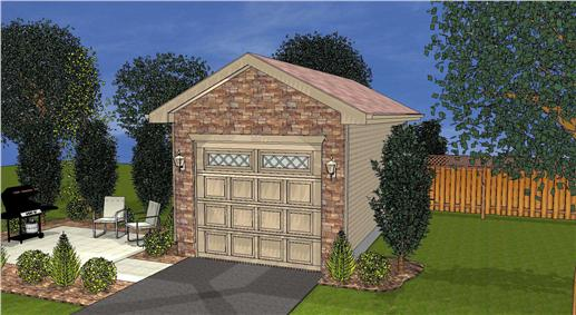 This is a 3D Computer Rendering of these Garage Plans.