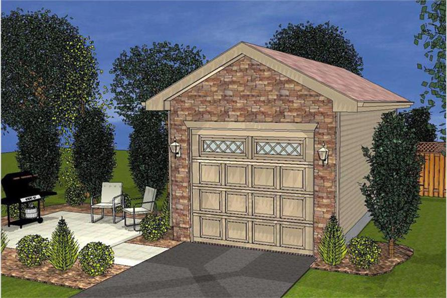 This is an artist's rendering of Country style Garage Plan #100-1161.