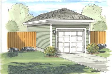 0-Bedroom, 288 Sq Ft Garage Home Plan - 100-1162 - Main Exterior