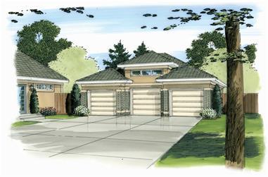 0-Bedroom, 872 Sq Ft Garage Home Plan - 100-1163 - Main Exterior