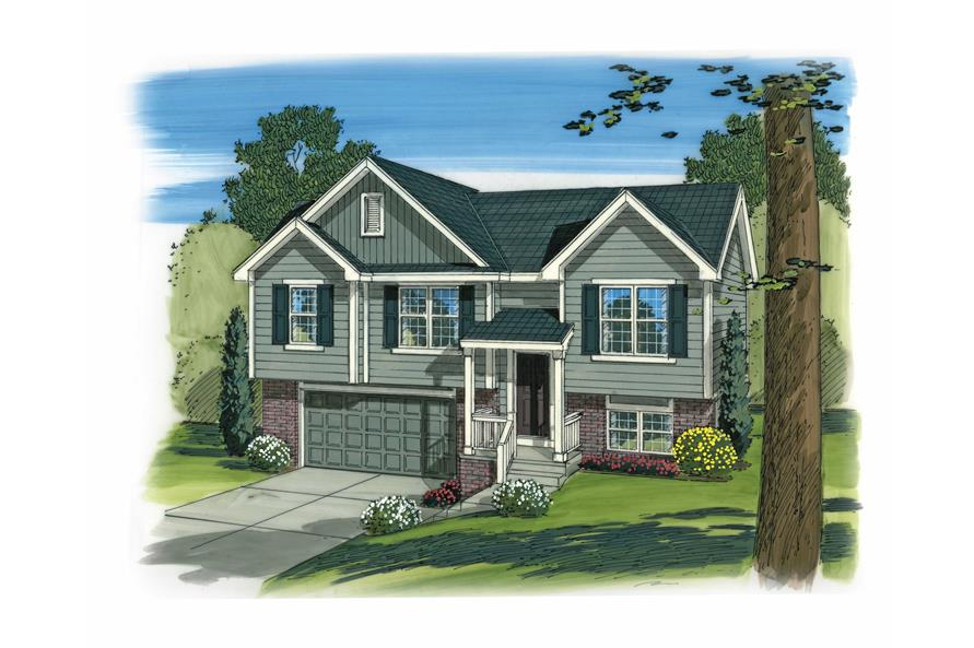 3-Bedroom, 1096 Sq Ft Country Home Plan - 100-1165 - Main Exterior