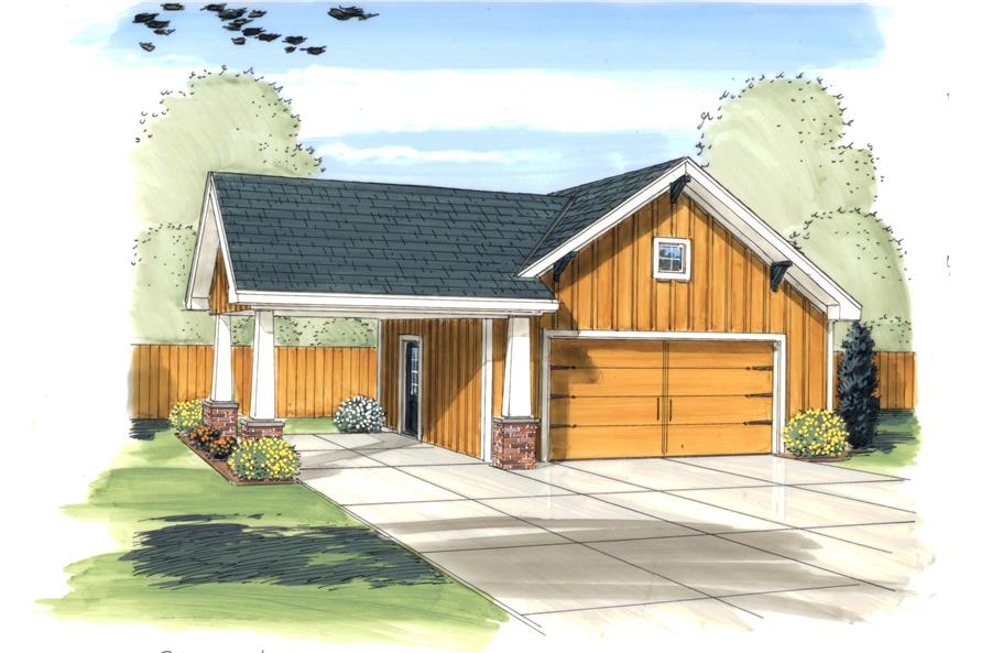 0-Bedroom, 576 Sq Ft Garage House Plan - 100-1166 - Front Exterior
