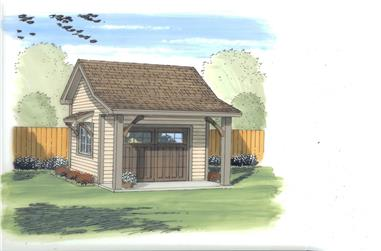 0-Bedroom, 144 Sq Ft Specialty Home Plan - 100-1167 - Main Exterior