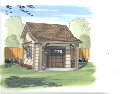 This is an artist's rendering of these shed plans.