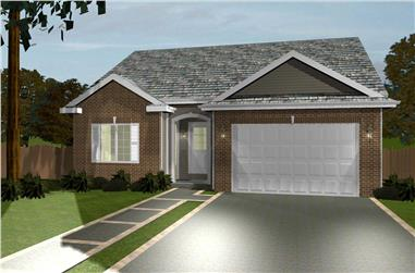 3-Bedroom, 1438 Sq Ft Country Home Plan - 100-1168 - Main Exterior