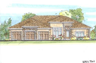 4-Bedroom, 4080 Sq Ft French House Plan - 100-1169 - Front Exterior